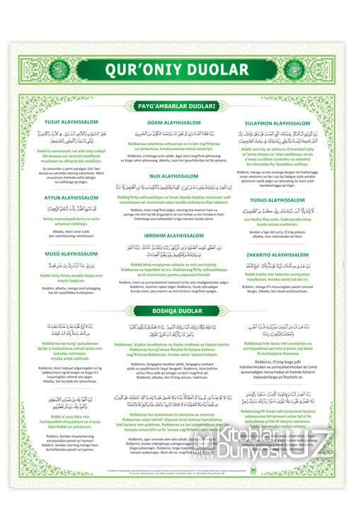 «Qur'oniy duolar» (plakat)